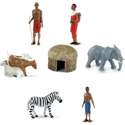 Miniature - African Village Set (7-Figures)