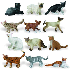 Miniature - Domestic Cats (12-Piece Set)