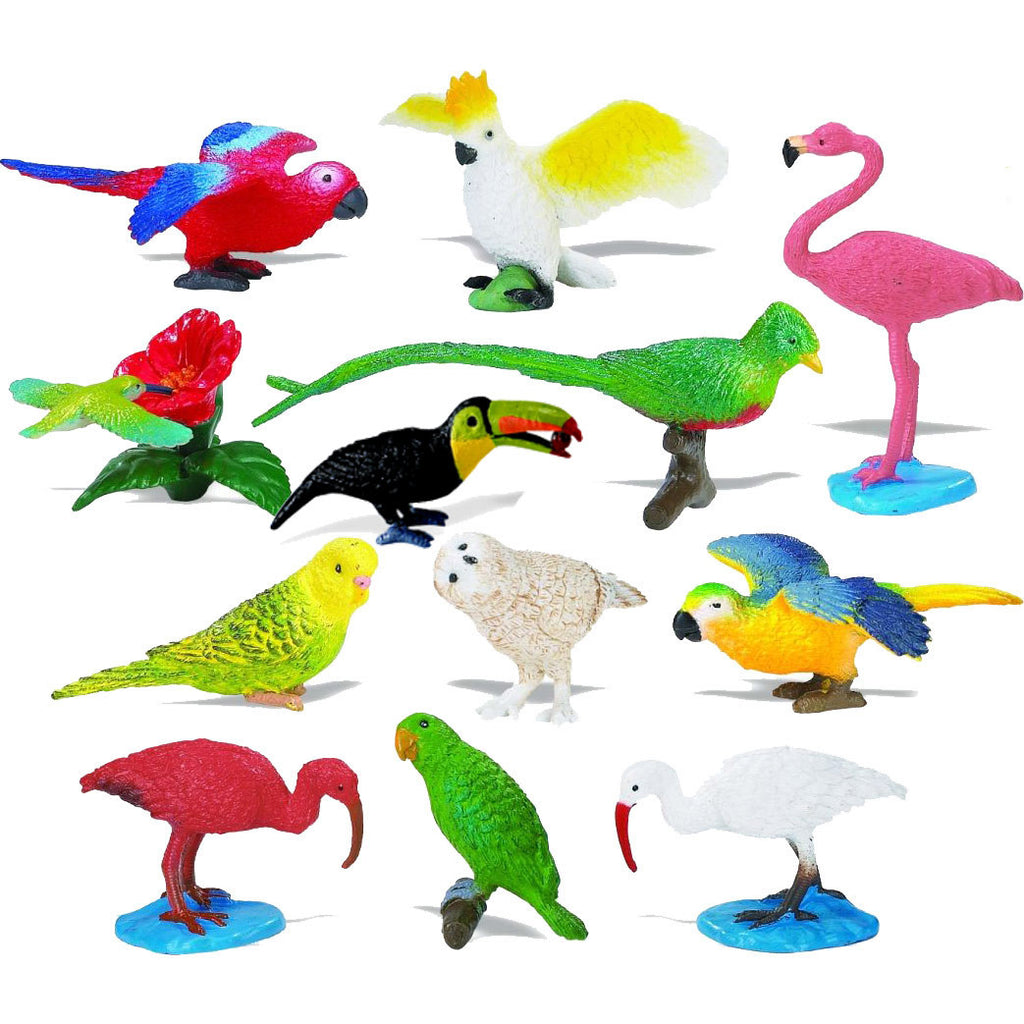Miniature - Exotic Birds (13-Piece Set)
