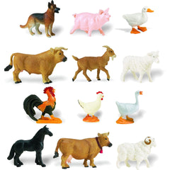 Miniature - Farm Animal Set (12-Figures)