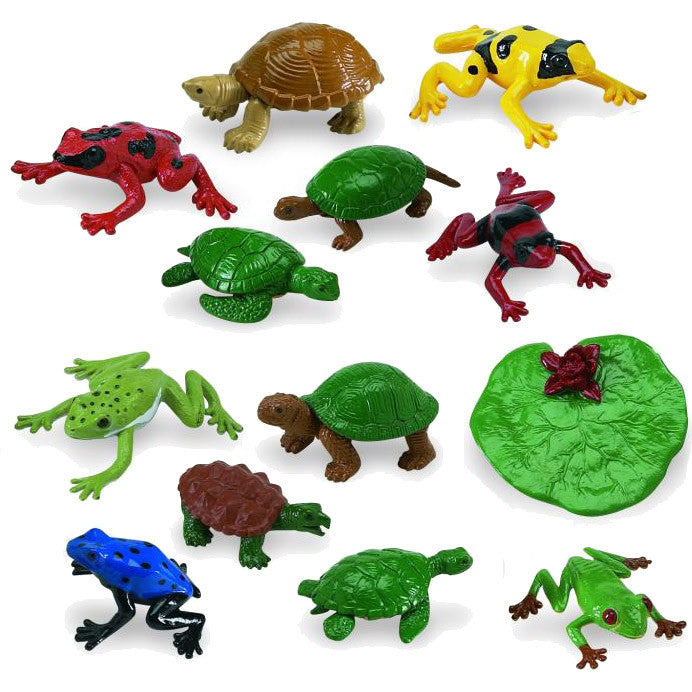 Miniature - Frogs & Turtles (13-Figures)