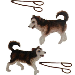 Miniature - Inuit Dog Sled Set (w/ Huskies)
