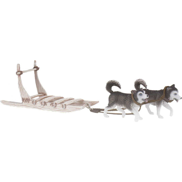 Miniature Inuit Dog Sled Set W Huskies Self Help