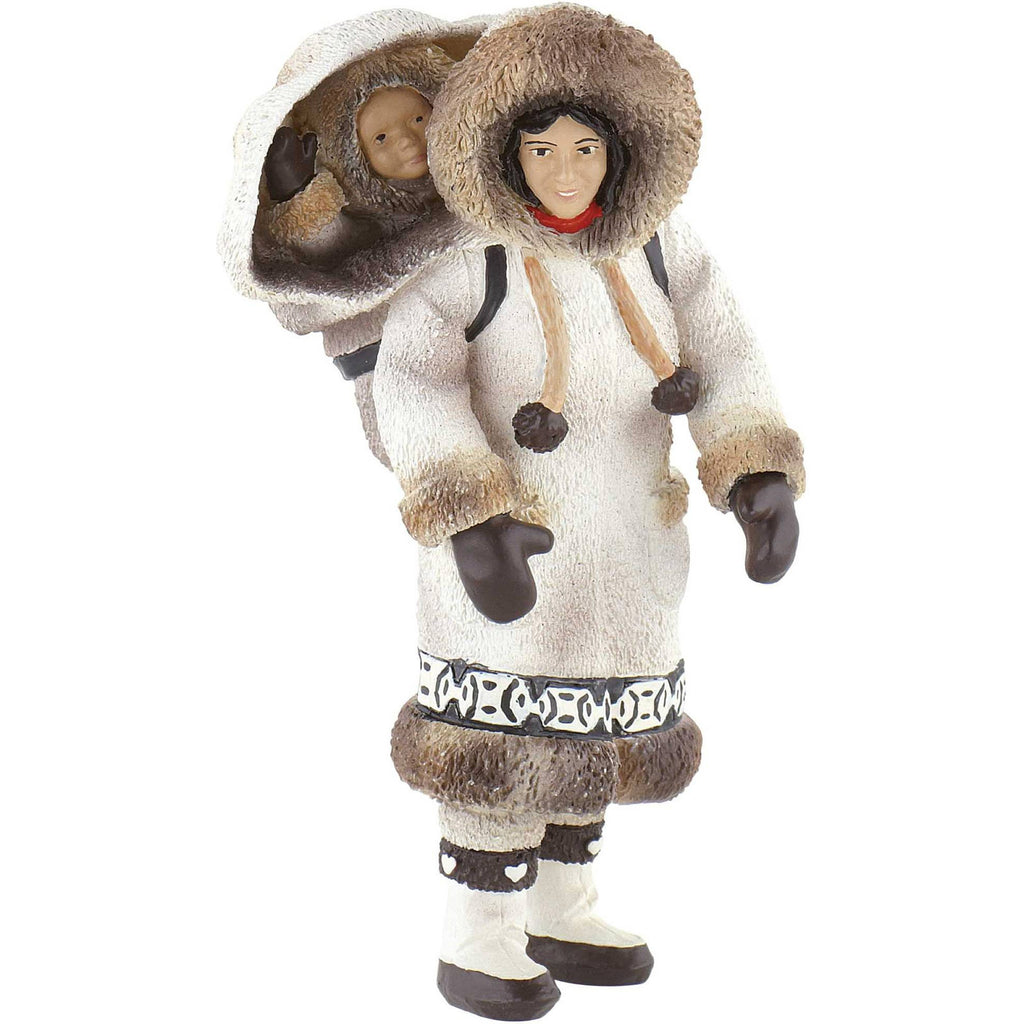 Miniature - Inuk (Eskimo) Woman with Child