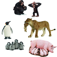 Miniature - Animal Mothers & Babies Set