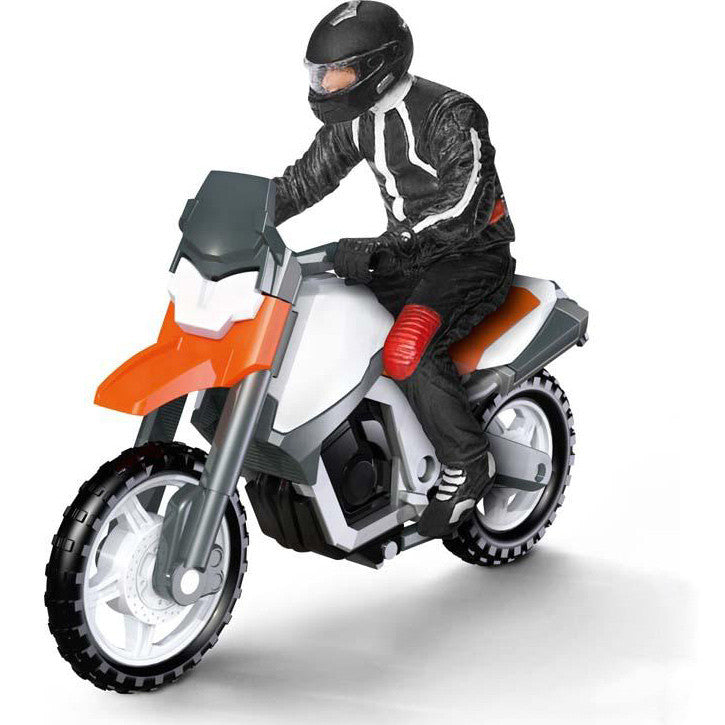 Miniature - Motorcyclist & Off-Road Motorcycle (2-Figures)