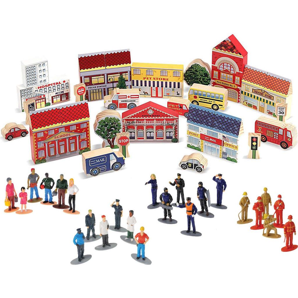'Our Town' With Figures Bundle (59-Pieces)
