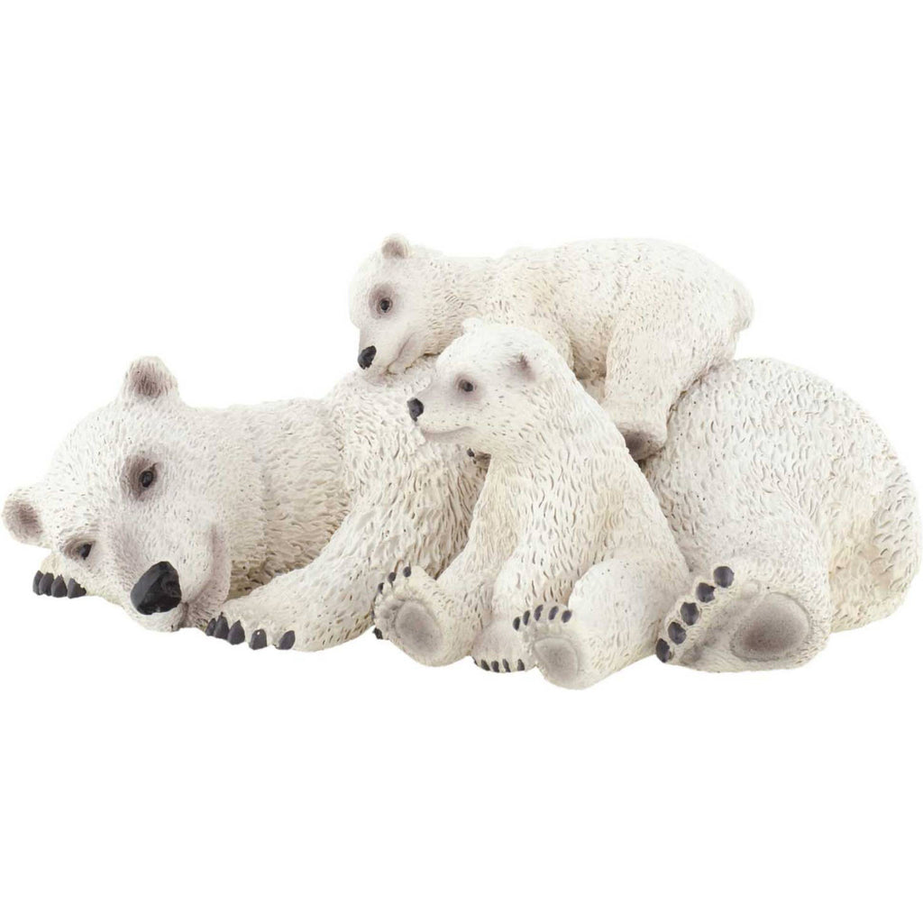 Miniature - Polar Bear with Two Cubs