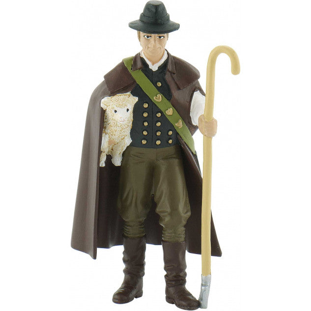 Miniature - Shepherd with Sheep & Staff