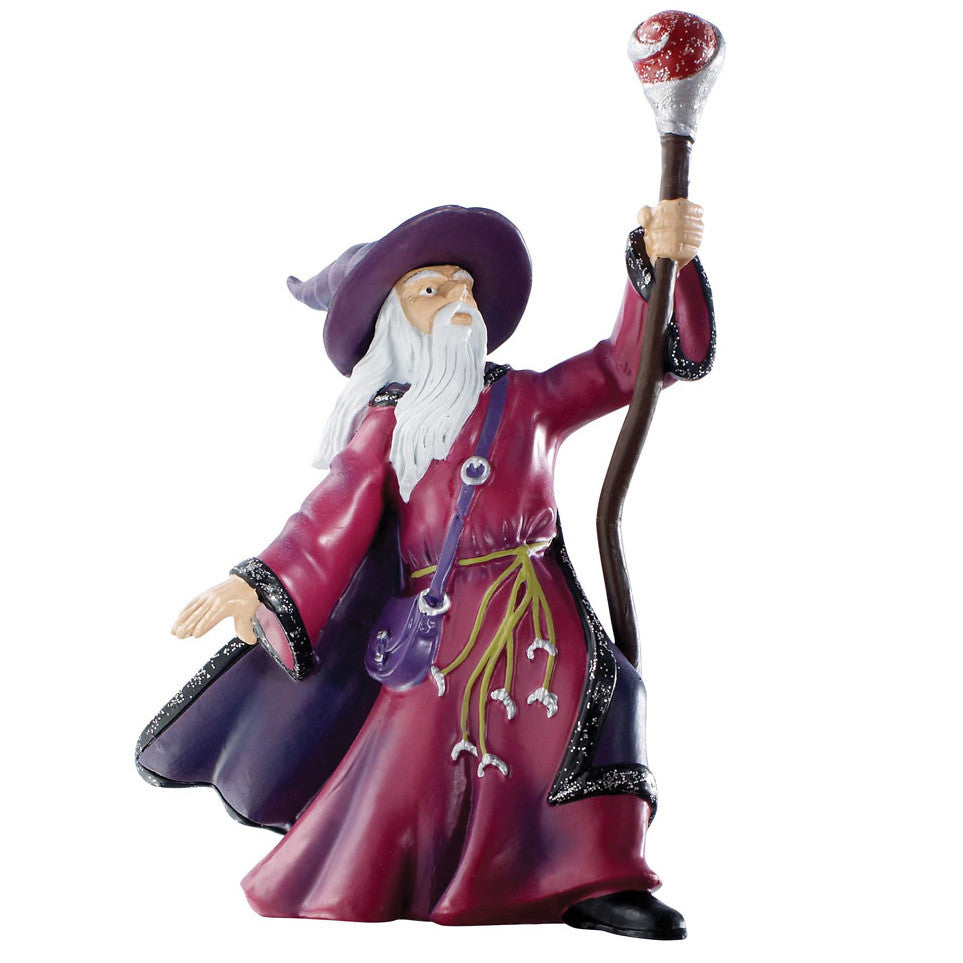 "Sorcerer with Magic Staff (4.5""H)"