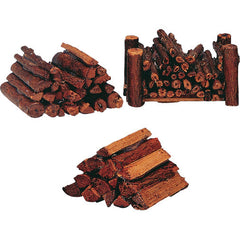 Miniature - Stacked Firewood, Set of 3