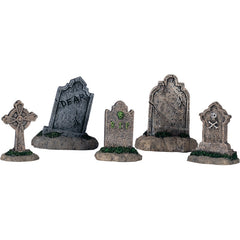 Miniature Tombstones (Set of 5)