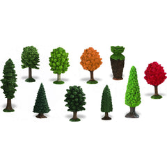 Miniature Trees - Small Replicas (10-Pieces)