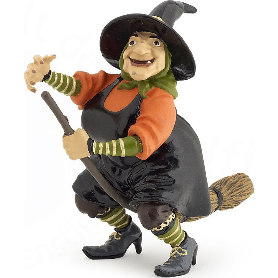 Miniature - Witch on Broomstick