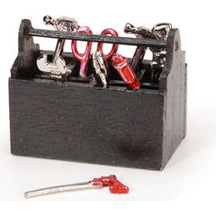 Miniature - Wood Tool Box With Tools