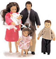 Modern Hispanic Dollhouse Family (5 Poseable Dolls)