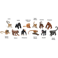 Miniature - Monkeys and Apes Set (12-Figures)