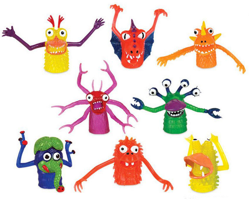 8 Monster Finger Puppets/ Miniatures