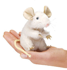 Small Pets - White Mouse Finger Puppet