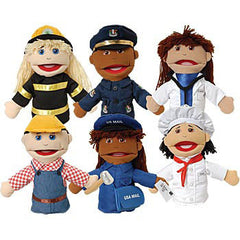 Multi-Ethnic Career Puppets
