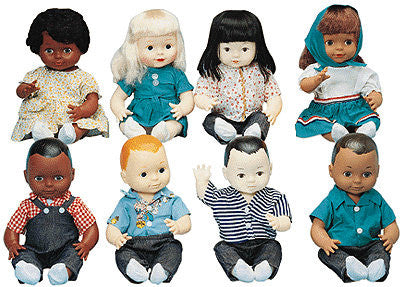 Multi-Ethnic School Doll Set (8 Dolls)