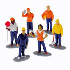 Multicultural Construction Workers (6-Pieces)