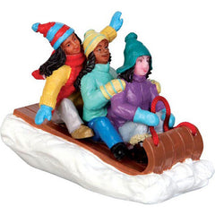 Miniature - Multicultural Girls on Toboggan