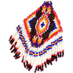 Native American Double-Sided Fringed Beadwork