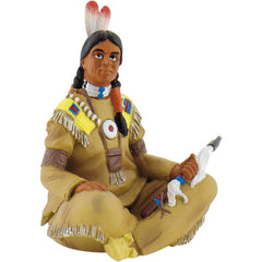 Native-American Figure, Sitting With Tomahawk