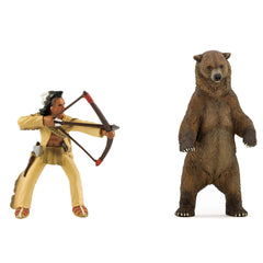 Native-American Archer & Grizzly Bear (2-Figures)