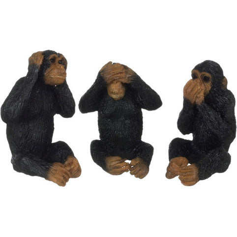 SEE, HEAR, SPEAK  No EVIL Monkeys (Set of 3)