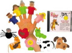 Nursery Rhyme Finger Puppet Set (w/CD)
