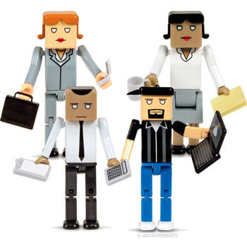 Miniature Office Figures/Co-Workers (13-Piece Set)
