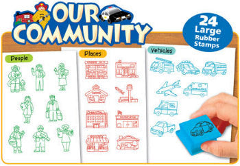 Our Community - 24 Rubber Stamps