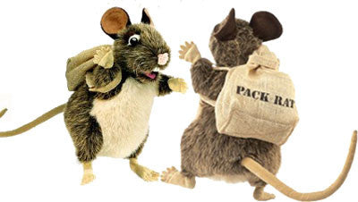 Pack Rat Puppet with Backpack