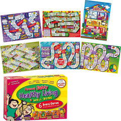 Personal Safety, Healthy Living & Well-Being Games (6 Board Games)
