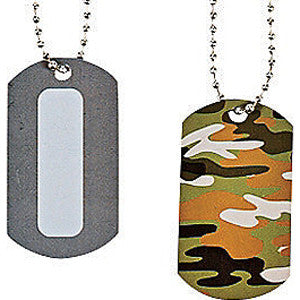 Personalizable Camouflage Dog Tag Necklace