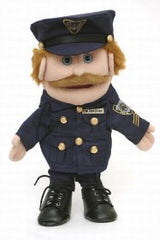 Caucasian Policeman Puppet (Movable Mouth)