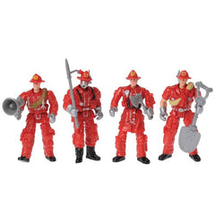 Poseable Fire Fighters (Set of 4)