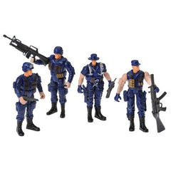 Poseable Policemen - SWAT Team (Set of 4)