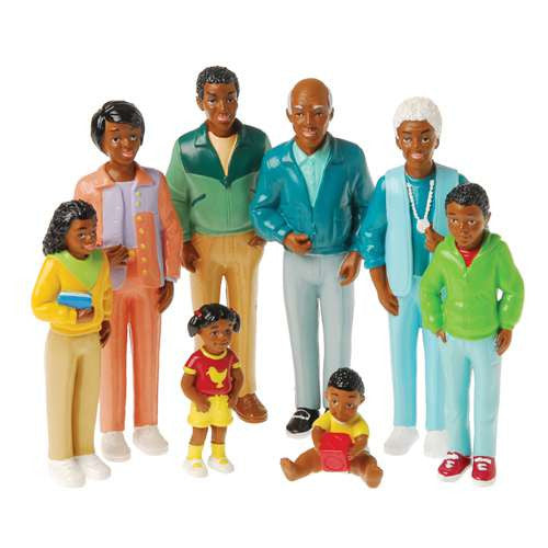 Pretend Play African-American Family (8-Figures)