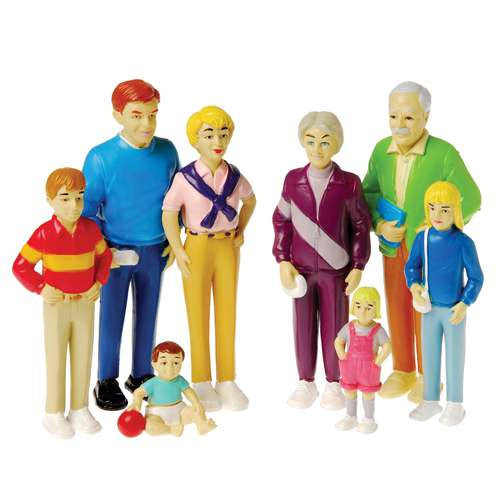 Pretend Play Caucasian Family (8-Figures)
