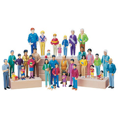 Pretend Play - Four Family Set (32-Figures)