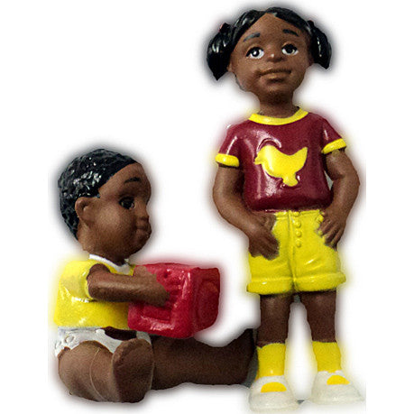 Pretend Play Girl & Baby (African-American)