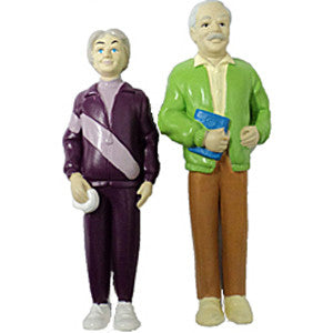 Pretend Play Grandparent Figures (Caucasian)