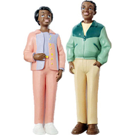 Pretend Play Male & Female Figures (African-American)