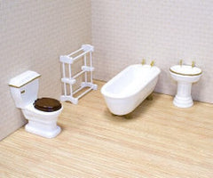 Realistic Bathroom Furniture (4-Piece Set)