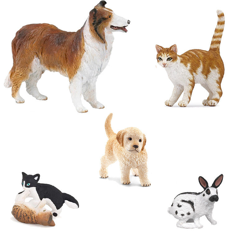 Realistic Family Pet Set (5-Figures)