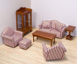 Realistic Living Room Furniture (9 Piece Set)