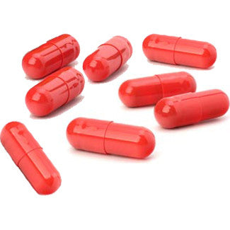 8 Empty Pill Capsules (Red)